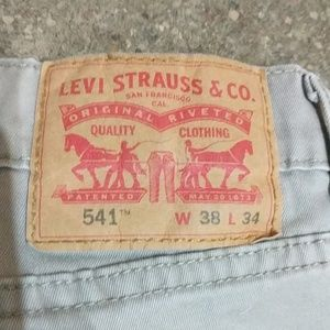 Levi's 541 stretch relaxed 38x34 tan jeans